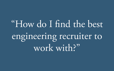 Engineering recruiter frequently asked questions graphic.